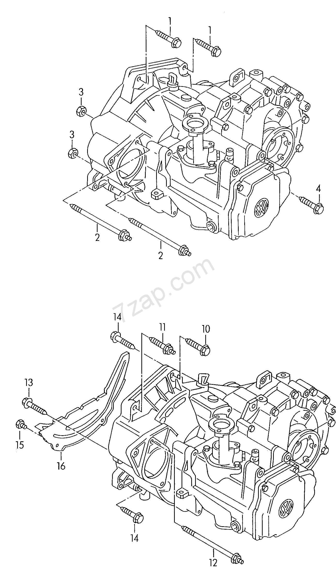 mounting parts for engine and transmission; 5-spe... - Audi TT/TTS  Coupe/Roadster(ATT) [ARGENTINA 2003 year]