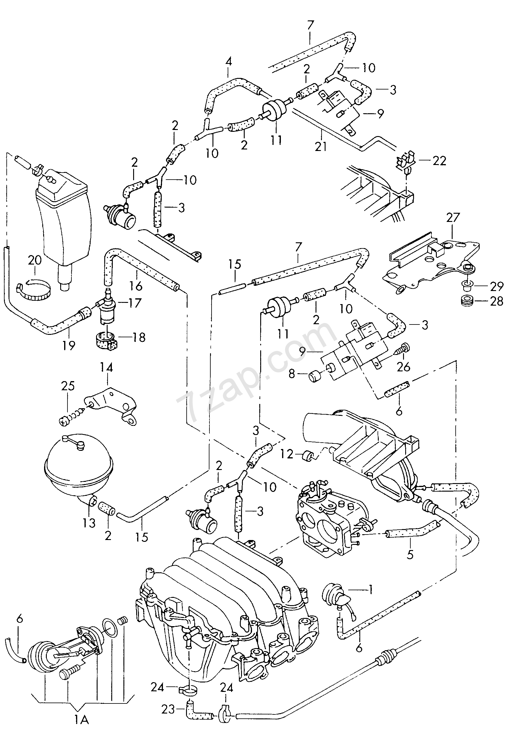 Vacuum System Activated Carbon Filter For Audi A8 S8 1999 Engine Diagram Quattroa8q Europa Year