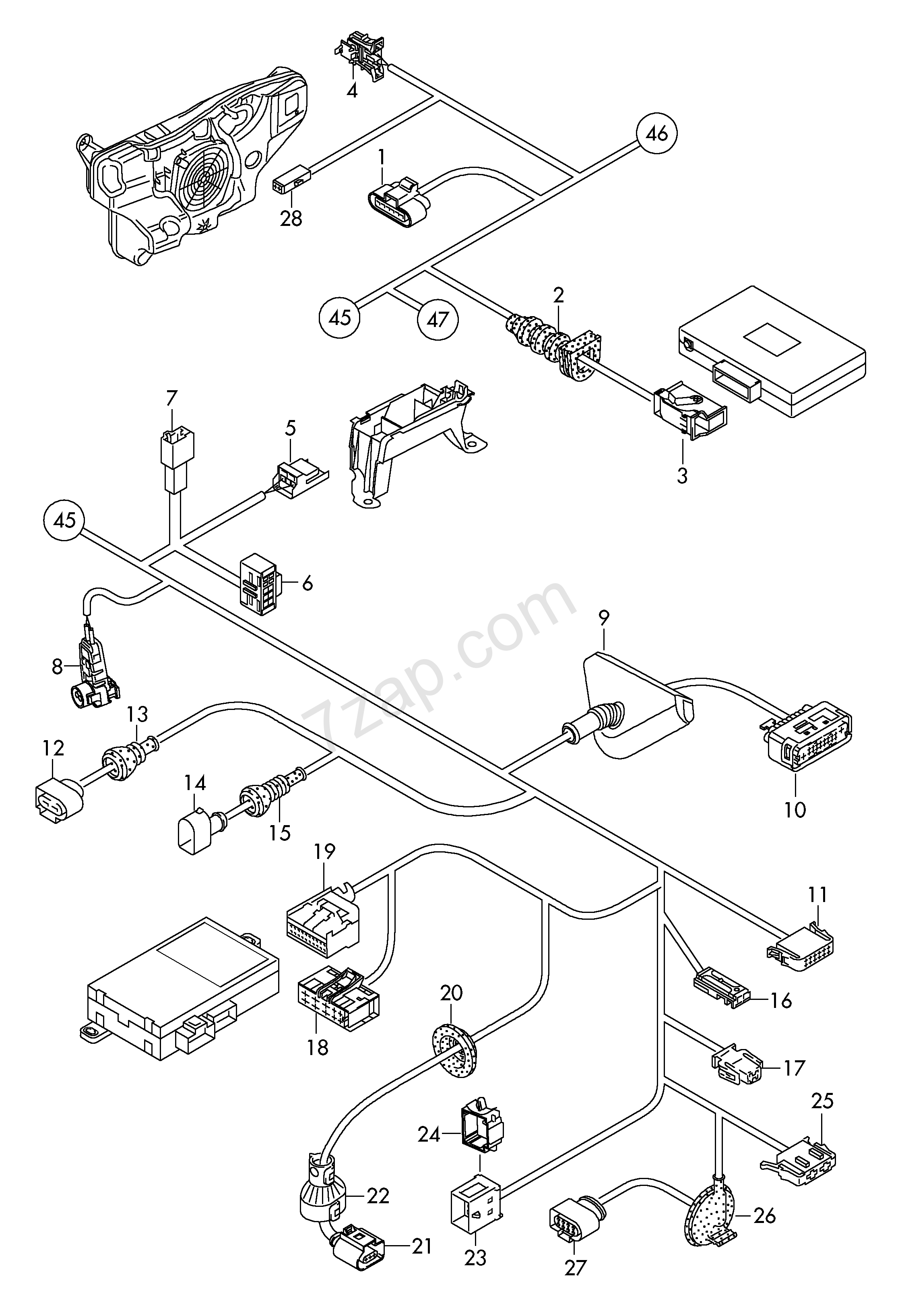 Individual Parts Wiring Harness For Interior Are Audi A3 Cabriolet Diagram Cabrioleta3ca Mexico 2012 Year