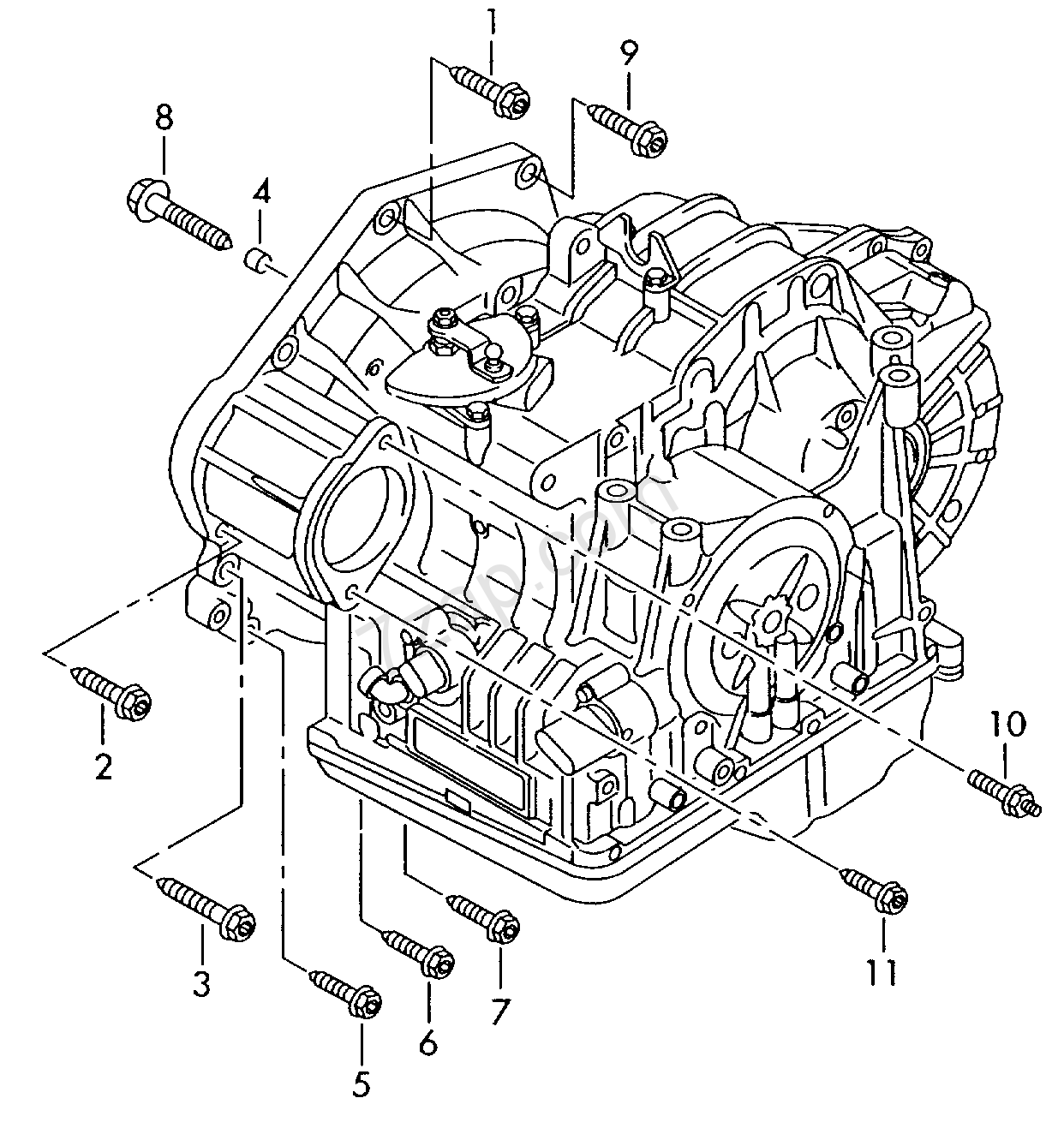 Mounting Parts For Engine And Transmission; 6-spe... Audi